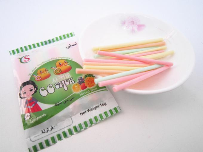 14.4g Mixed flavor powder CC stick candy in box / mixed fruit sweet HACCP,ISO22000