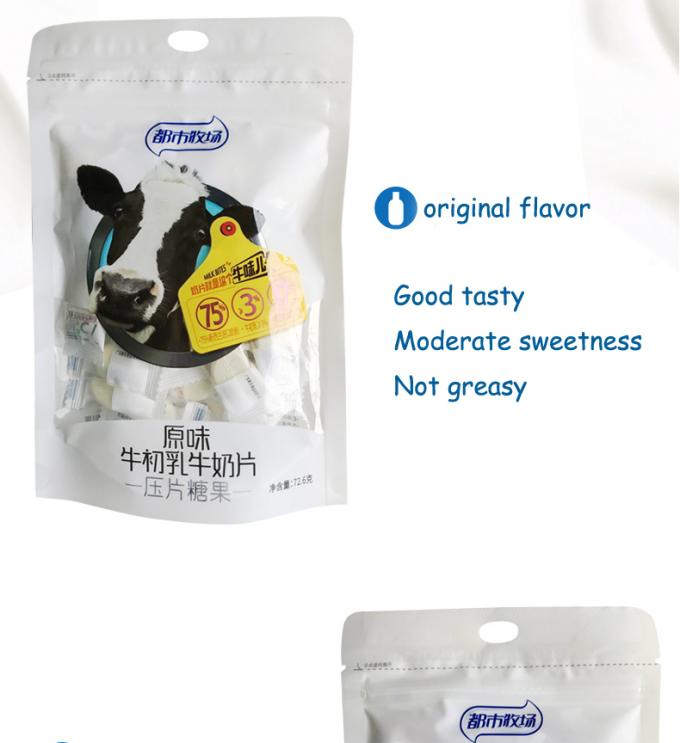 Blueberry Flavor Chewy Milk Candy In Bag Individual Packing HACCP