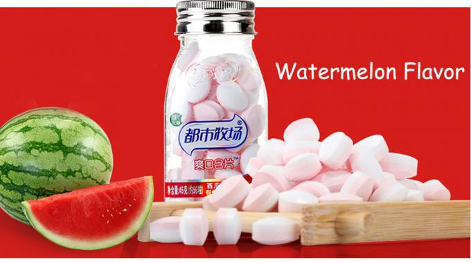 Watermelon Flavor Sugar Free Mint Candy Compressed 12 Months Shelf Life