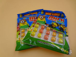 China Mini Round Colorful Mixed Chewing Gum Candy For Kids 12g Bag Packed factory