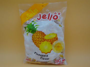 China Pineapple Flavor Original Fresh Soft Milk Candy With Fruit Jelly Red Color factory