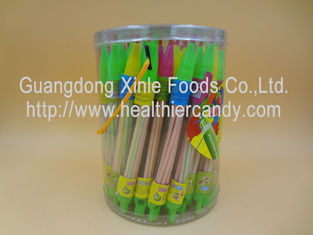 China Whistle Pen Sweet Sour CC Sticks Candy With Red / White / Pink Colour factory