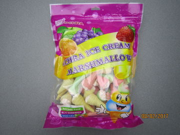 China 228g Bag Pack Ice Cream Fruity Marshmallow Gifts / Snack Marshmallow factory