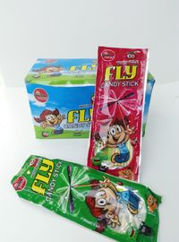 China Candy Stick With Fly Leaf and Sticker Combine Eating and Fun Kid's Love factory