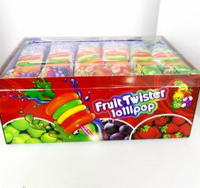 China 8g Colorful Multi Fruit Flavor Twist Lollipop Sweet And Healthy with Fluorescent sticks factory