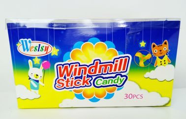 Windmill Shape Hard Novelty Candy Toys With Multi Fruit Flavor