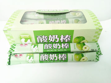 China 14g Green Apple Flavor Chewing Yogurt Sticks With Milk Flavor For Kids factory