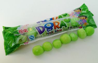 Green Bubblegum Chewing Gum , Dora Multi Fruit Flavor Bar In Bags