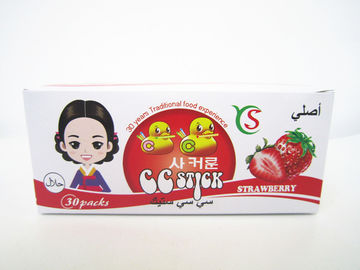 China 14.4g Strawberry flavor CC stick candy in box children's favorite healthy and yummy factory