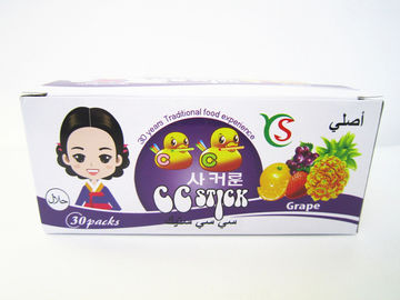 China 14.4g CC stick Sweet And Sour CC Stick Candy Deep In Grape Flavor Children's Favorite factory