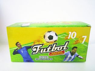 China World Cup Multi Fruit Flavor CC Stick Candy With Tattoo Stick And Soccer Whistle factory