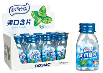 China Fresh breath Cooling Pepper mint Vitamin C Sugar free mint candy Bottle pack candy factory
