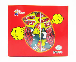 China Grenade Shape Healthy Lollipop With Poping Candy / Low Calorie Hard Candy factory