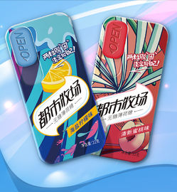 Promotion Sugar Free Mint Candy Sweety Peach Flavor Tin Box Packing