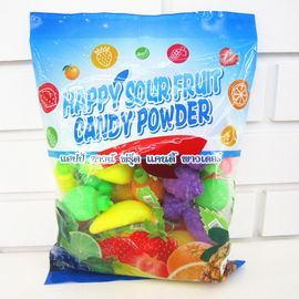 China Multi Fruit Flavor Sour Powder Candy With Fruit Shape Packed In Bag Yummy And Lovely factory