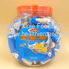 China Low Calorie Energy Roll Milk Candy Sugar Tablet Compressed Jar Packed factory