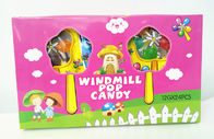 China Multi Fruit Flavor 5pcs In 1 Lovely Windmill Shape Hard Candy Sticks Funny And Tasty factory