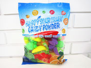 China Multi Fruit Flavor Sour Powder Candy With Fruit Shape Packed In Bag Yummy And Lovely company