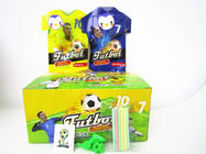 World Cup Multi Fruit Flavor CC Stick Candy With Tattoo Stick And Soccer Whistle supplier