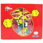 Grenade Shape Healthy Lollipop With Poping Candy / Low Calorie Hard Candy supplier