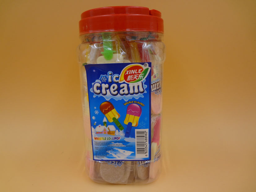Dextrose Ice Cream Lollipop Candy With Little Toy Bottled Milk Strawberry Flavors supplier