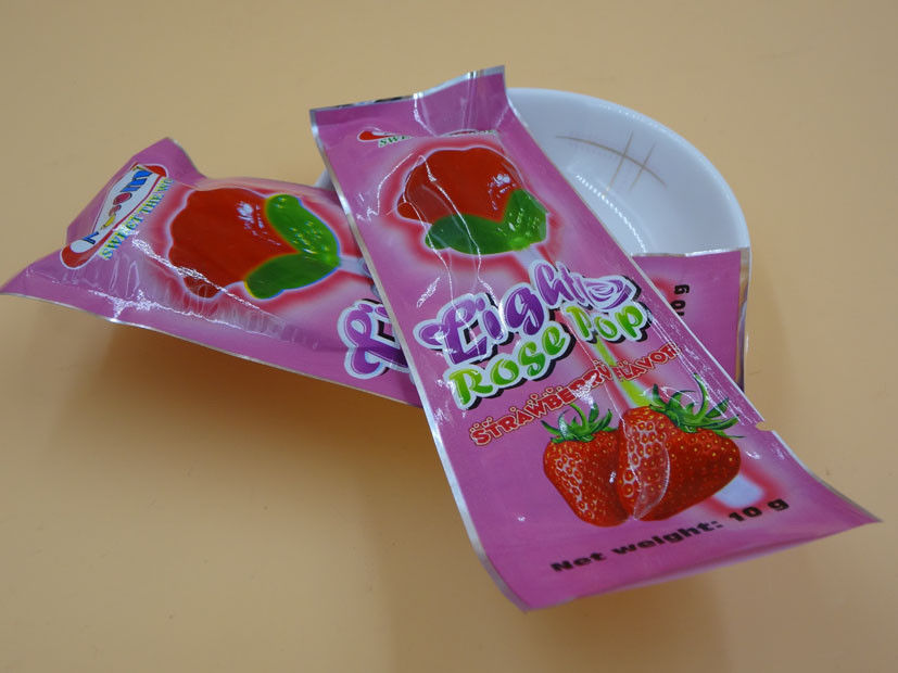 All Natural Rose Hard Strawberry Candy Lollipops Sugarless Zero Calorie