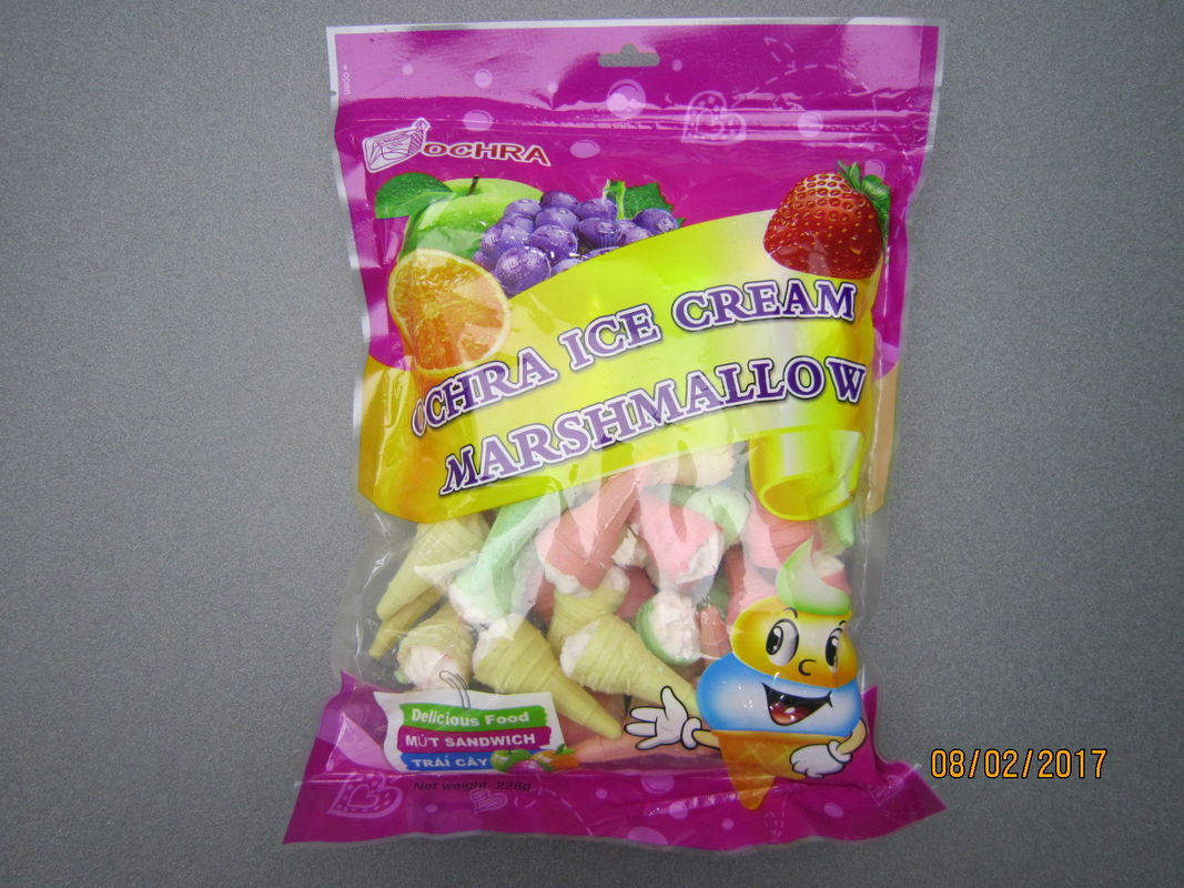 228g Bag Pack Ice Cream Fruity Marshmallow Gifts / Snack Marshmallow supplier