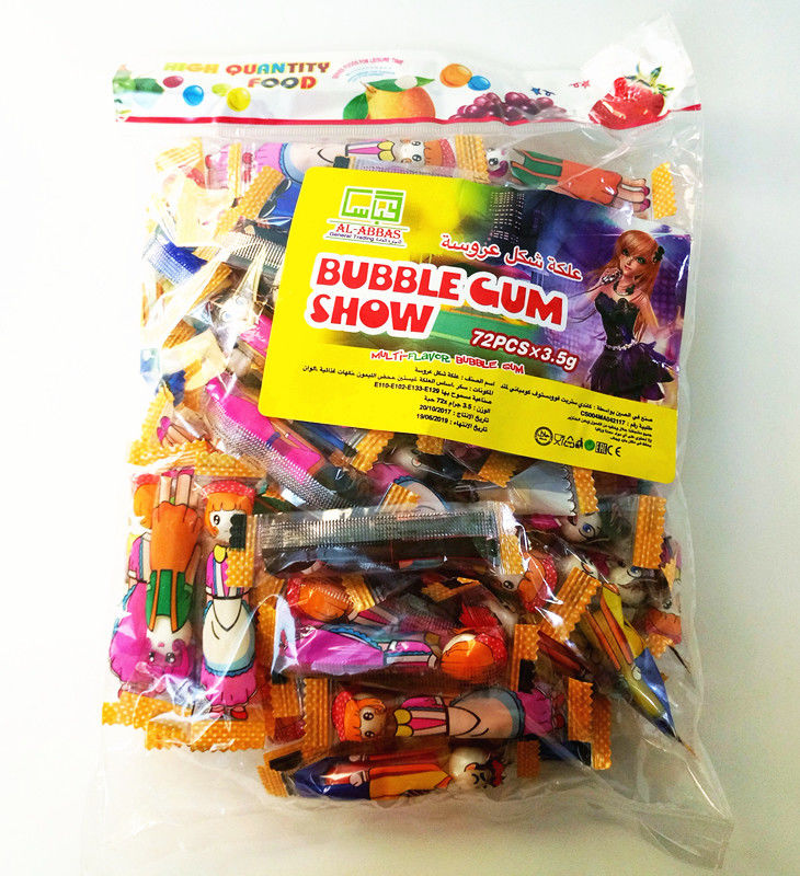 Bubble Chewing Gum Show With Multi Fruit Flavor Packed In Bag Tasty And Healthy supplier