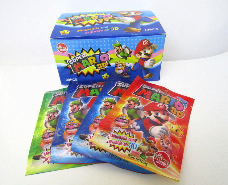 Super Mario CC Stick Candy With Lovely 3D Super Mario Pictures Toy Candy supplier