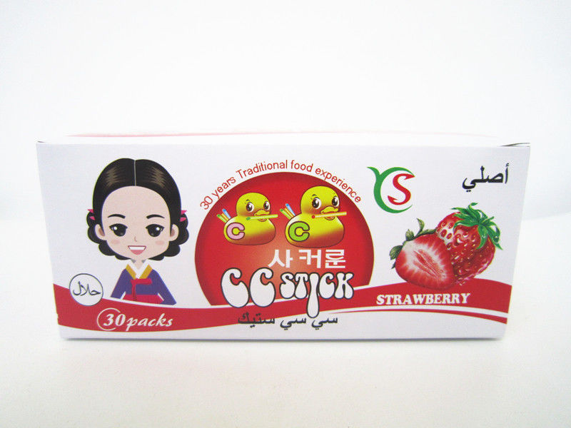 14.4g Strawberry flavor CC stick candy in box children's favorite healthy and yummy