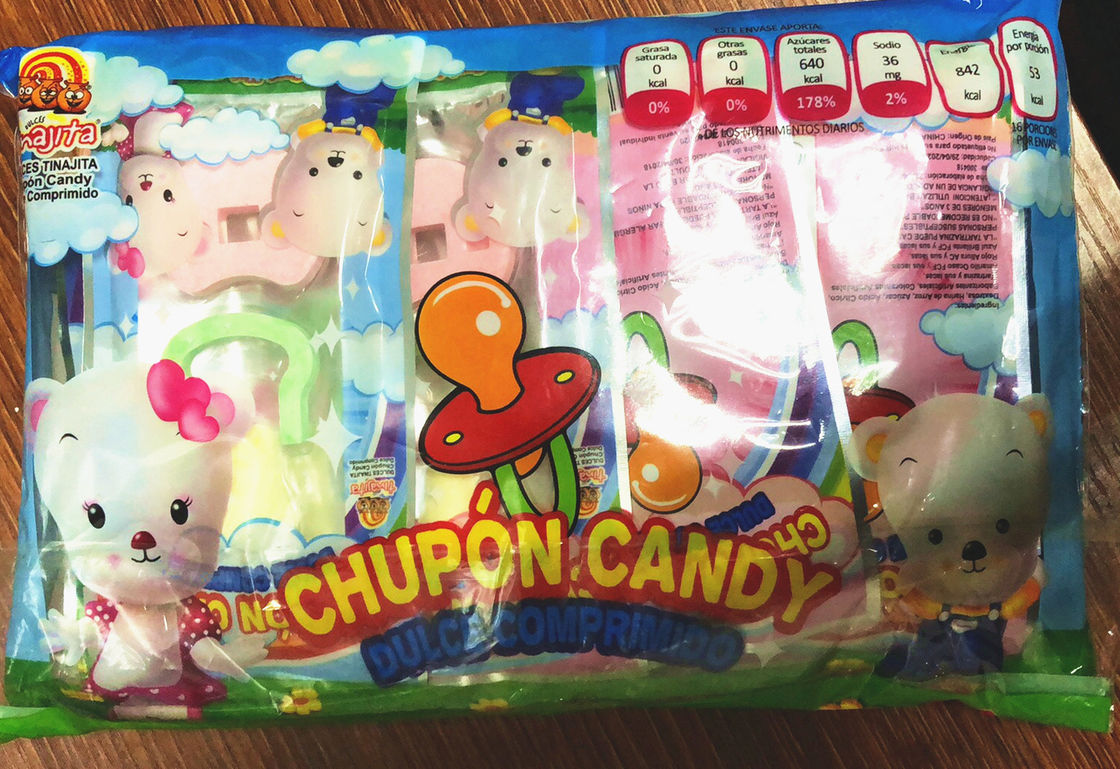 DIY Nipple shape Compressed candy / Novelty candy for children with assorted fruit flavor supplier