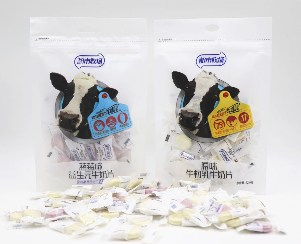 Blueberry Flavor Chewy Milk Candy In Bag Individual Packing HACCP supplier