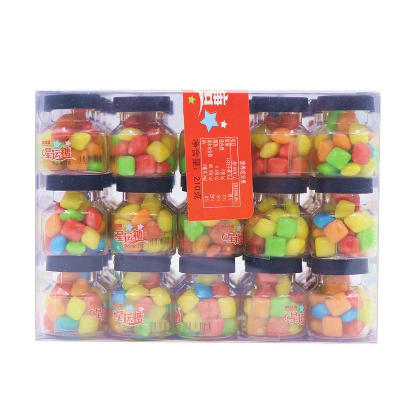 Lucky Bubblegum Chewing Gum / Colorful Crispy Chewing Candy Packed In Jar supplier