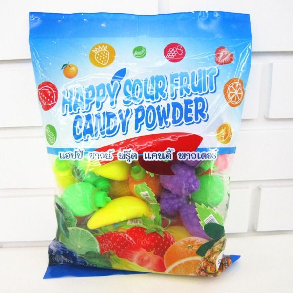 Multi Fruit Flavor Sour Powder Candy With Fruit Shape Packed In Bag Yummy And Lovely supplier