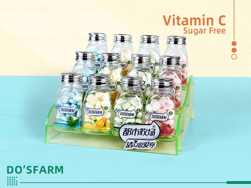Sugar free Low Fat candy Bottle Pack Vitamin C Low Cal Mint Candy Cooling Mint