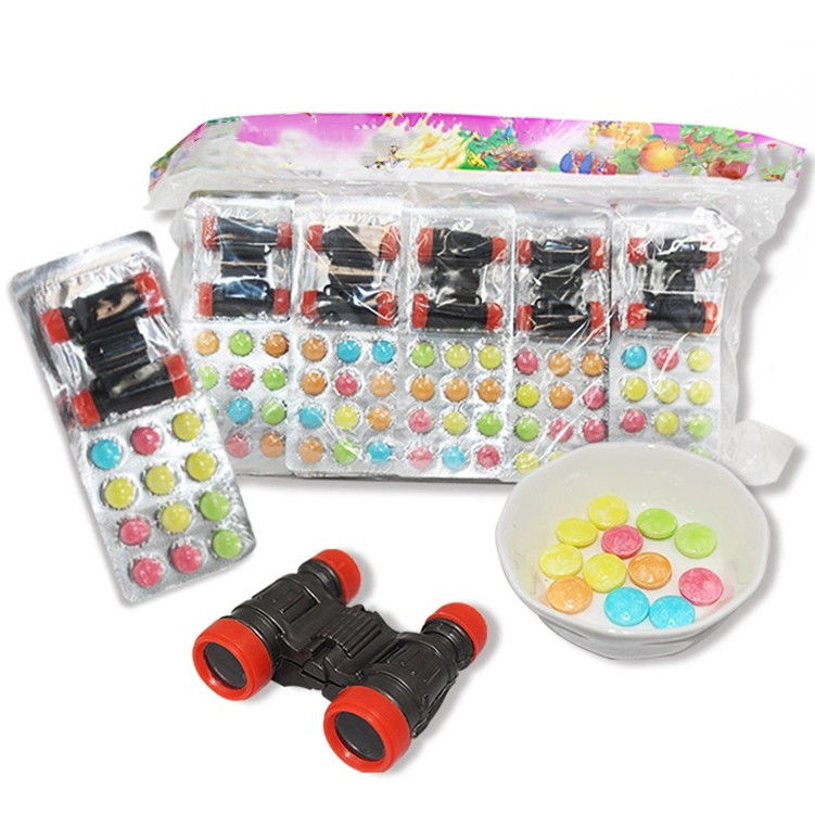 Funny Fruity Novelty 6.8g Compressed Candy With Telescope Toy