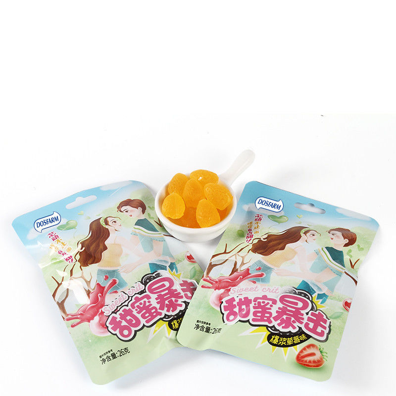 Vitamin Soft Gummy Candy With Juice Orange Flavor Jelly Confectionery