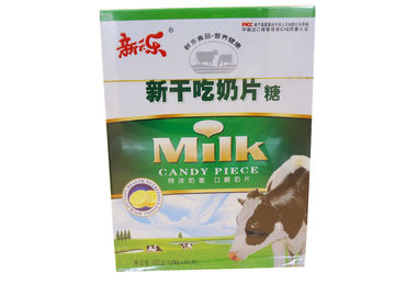 Evaporated Milk Tablet Candy Pink / Yellow Zero Calorie Cow Milk Tablets