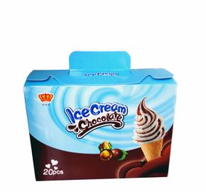 Fancy and Crisp Chocolate Candy Crisp Ice Cream Shaped Chocolate Dessert Cups