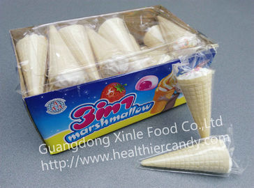 10cm Ice Cream Shape Marshmallow Candy NiceTaste And Sweet White Marshmallows
