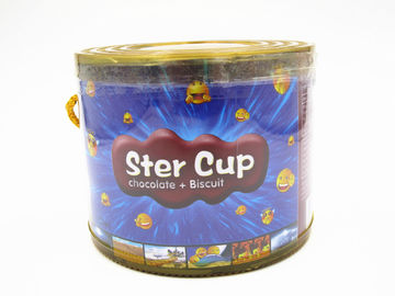 4g Star Chocolate Cup In PVC Jar Sweety Chocolate With Crispy Cookie