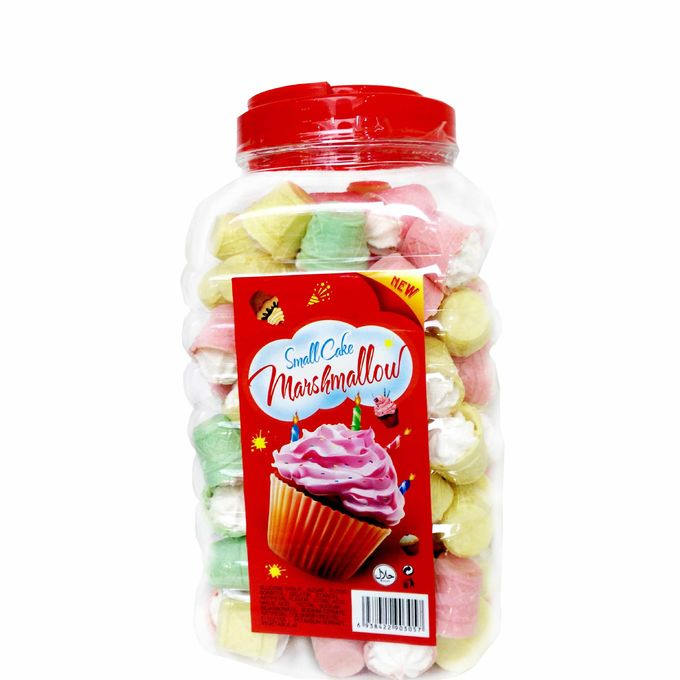 Mini Cake In Jar Nice Taste Marshmallow Sweets , Soft candy marshmallow