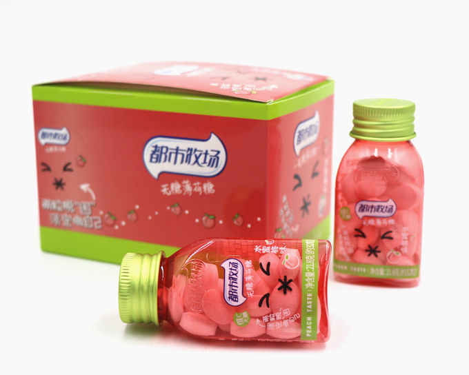 Peach flavor Sugar Free Mint Candy in plastic bottle Best selling products in Thailand